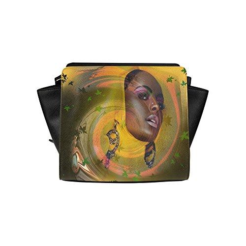 Jasonea Women Satchel Bag Hand Bag With Black Is Beautiful Basdd169692