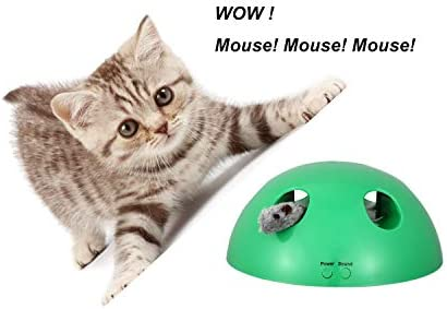 Shydie Cat Interactive Motion Toys, Cat Feather Mice Teaser Toys with Smart Electronic Random Moving Feather and Mouse, Newest Cat Teaser Toys for Cats and Kittens, Best Gift 6