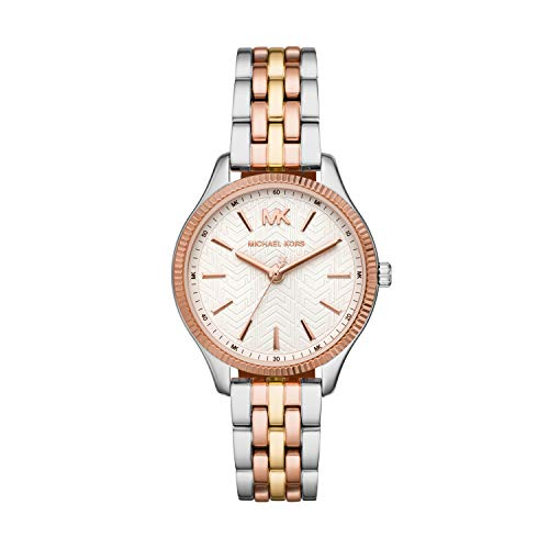 Michael Kors Women's Runway Quartz Watch with Stainless-Steel-Plated Strap, Multi, 14 (Model: MK6642)