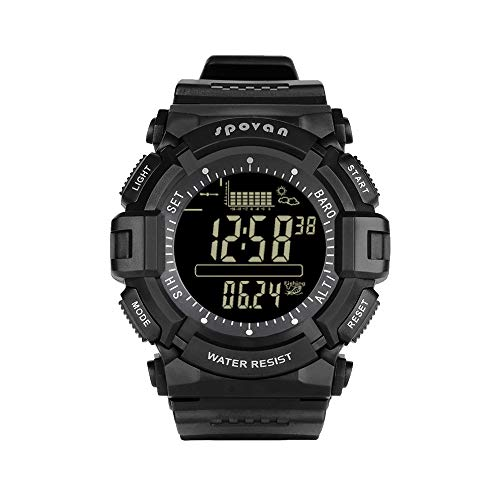 San Qing Fishing 10 in 1 Multi-Function Eye Rainwatch Code Table/Alarm Clock/Altimeter/Thermometer/Weather Forecast, Sports Watch, SPV706black