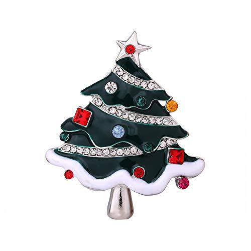 Seni Jewelry Christmas Brooch Pin Christmas Tree Pins Crystal Rhinestone Brooch Xmas Santa Jewelry ()