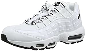 NIKE air Max 95 Mens Running Trainers 609048 Sneakers Shoes (UK 6 US 7 EU 40, White Black Black 109)