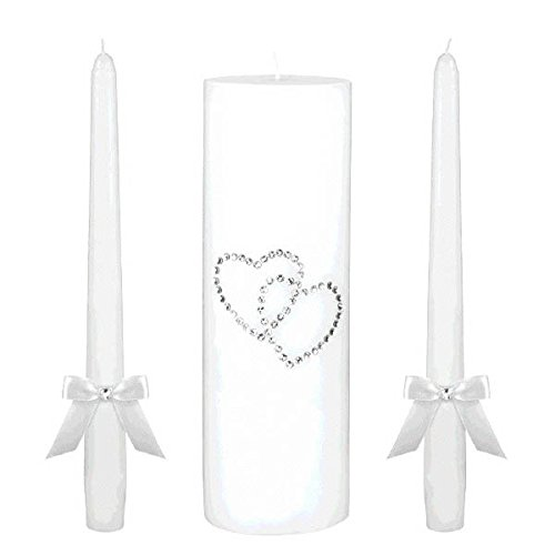 Amscan Classic Wedding Ceremony Unity C&Le Set with Gem Hearts Party Supplies (6 Piece)
