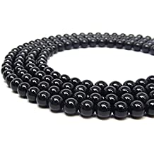 "Natural Black Obsidian Gemstone Beads 8mm 16"" strand AA Grade"