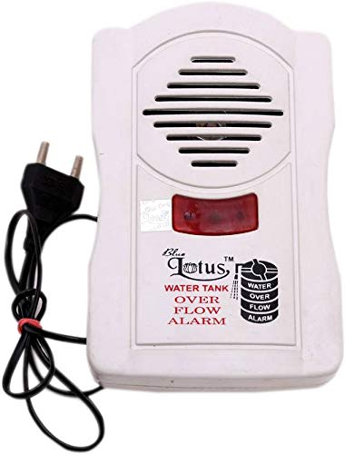 Madhram Water Overflow Tank Alarm with Voice Sound (White)