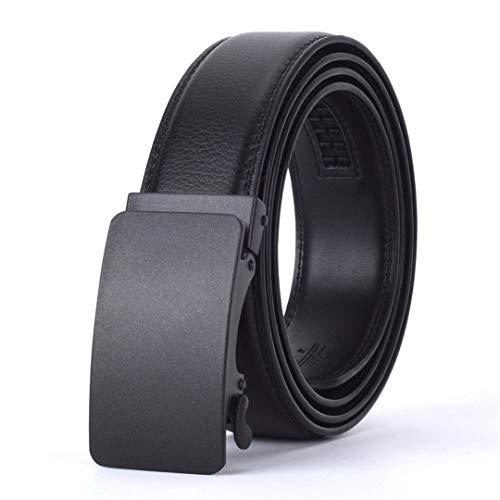 JUIHUGN Designers Men Automatic Buckle Leather Luxury Belt Business Male Alloy Buckle Belts for Menhomme N 115cm