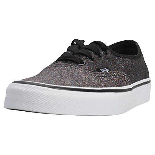 Vans Womens Glitter Rainbow Black Authentic Sneakers-UK 6