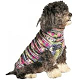 Chilly Dog Purple Woodstock Dog Sweater, XX-Small