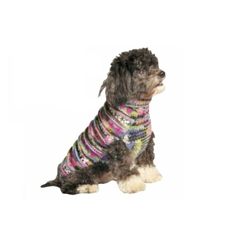 Chilly Dog Purple Woodstock Dog Sweater, Medium, My Pet Supplies