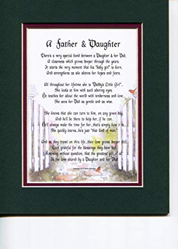 Genie's Poems A Father and Daughter A Touching Sentimental Poem Christmas Birthday Father's Day Present for A Dad Father and Or Daughter's Birthday Christmas #21