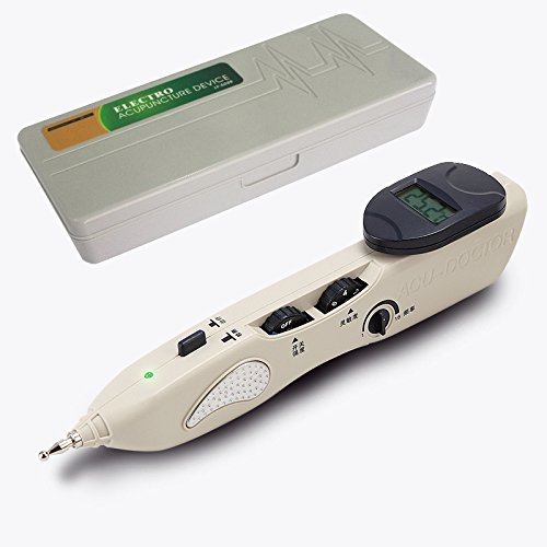 (Romonacr Electronic Acupuncture Pen Energy Meridian Massage Pen Pointer Meridian Stimulator Laser Moxibustion Pain Relief)