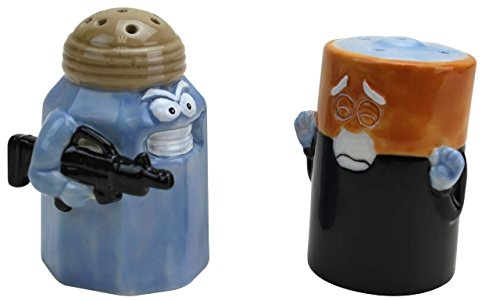 BigMouth Inc Assault/Battery Salt and Pepper Shakers ()