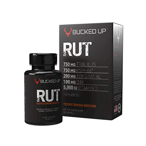 RUT – Testosterone Booster (90 Capsules) Natural Endurance, Strength and Stamina Booster – Peak Body Composition – Builds Muscle Fast