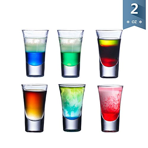 Sweese 4695 Shot Glasses - Heavy Duty Glass Set for Shots, S