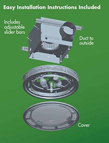 Hunter 83002 Ventilation Sona Bathroom Exhaust Fan With Light Imperial Bronze