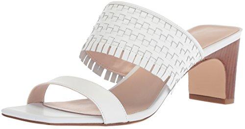 Nine West Women Nirveli Leather Slide Sandal White Leather