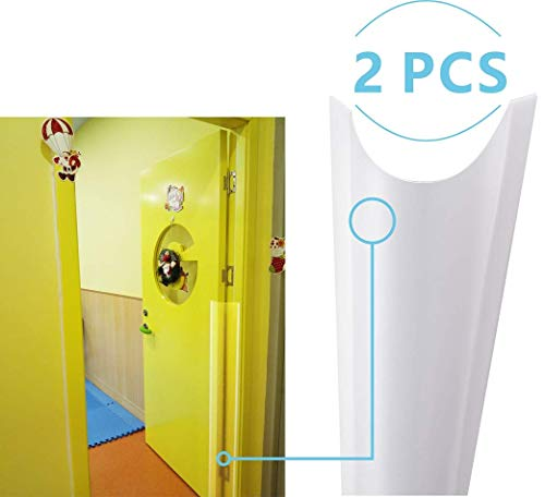 """AILUOQI Door Jam Shield Finger Pinch Guard for Baby Proofing, Kids, Hinge Cover Pinch Guard for 90 & 180 Degree Doors Frame & Baby Gate. 47.2""""H, 6.7""""W. 2 Pieces Set"""