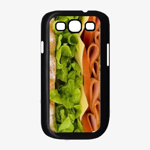 Sandwich with Meat Lettuce and Cheese - TPU Rubber Silicone Phone Case Back Cover Samsung Galaxy S3 I9300 includes BleuReign(TM) Cloth and Warranty Label