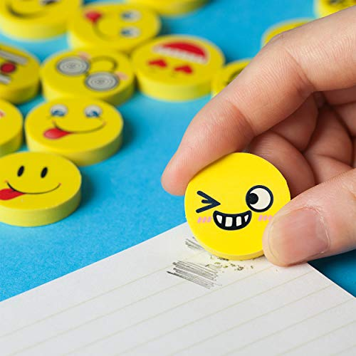 Mr. Pen- Erasers, Pack of 64, Emoji Eraser, Pencil Erasers, Erasers for Kids, School Supplies, Mini Eraser Pencil for Students, Fun Eraser, Cute Erasers, Eraser for School, Prizes for Kids Classroom Photo #2