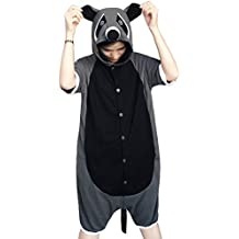 WOTOGOLD Animal Cosplay Costume Unisex Adult Raccoon Pajamas