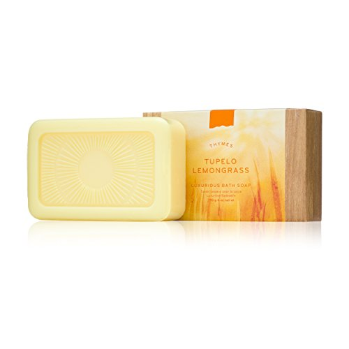 Thymes - Tupelo Lemongrass Luxurious Bath Soap - Naturally Conditioning Bar Soap with Fresh Citrus Scent - 6 oz