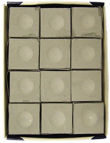 One Dozen Pewter Silver Cup Pool Cue Chalk