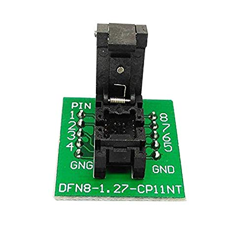 QFN8 DFN8 WSON8 Programming Socket Pogo Pin IC Test Adapter QFN8-1.27-CPO1PNL Pitch 1.27mm Clamshell Size 56 Burn in Socket