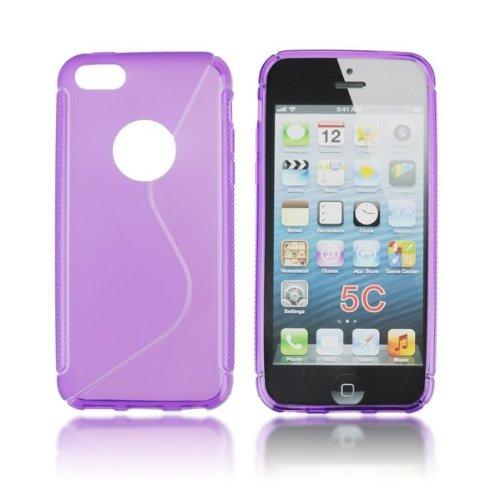Gummihülle Silikonhülle, Hülle für Apple iPhone 5C, 5 C, Hülle, Silikon, Gummi, Handyhülle, Schutzhülle, Lila