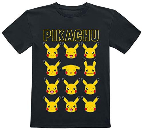 Pokémon Pikachu – Faces T-shirt zwart