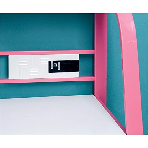 Furniture of America Ramirez Kids Desk with Stool in Pink by Furniture of America