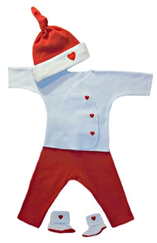 Heart Valentine's Day Outfit for Newborns and Preemies