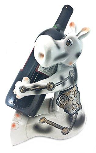 Cow Wine Bottle - Steampunk Cow Wine Bottle Holder Statue Country Farm Kitchen Bar Stands Racks Animal Sculpture