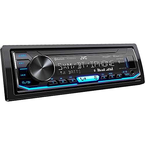 JVC KD-X360BTS 1-DIN Bluetooth In-Dash Mechless AM/FM/Digital Media Car Stereo Receiver with Pandora/iHeartRadio/Spotify Control