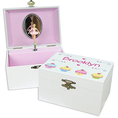 MyBambino Personalized Cupcake Ballerina Jewelry Box