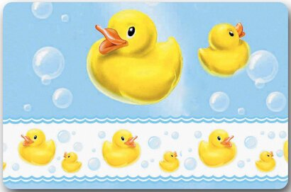 Yellow Rubber Duck Large Doormat Neoprene Backing Non Slip Outdoor Indoor Bathroom Kitchen Decor Rug Mat Welcome Doormat