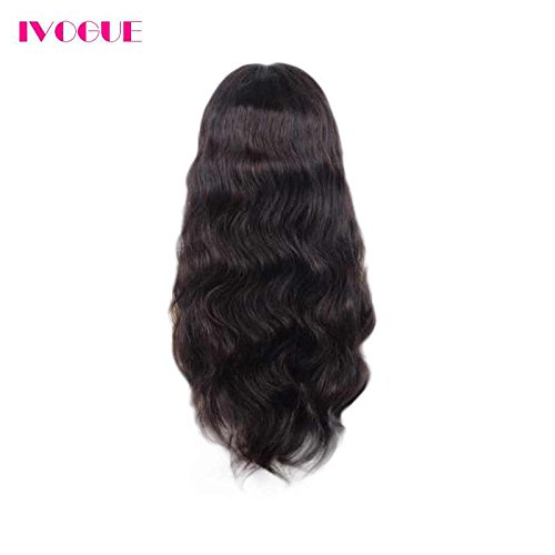 Pre Plucked 13X6inch Deep Part Lace Front Human Hair Wigs With Baby Hair For Black Women Malaysian Soft Virgin Hair (18inch) by iVogue Hair (Image #5)