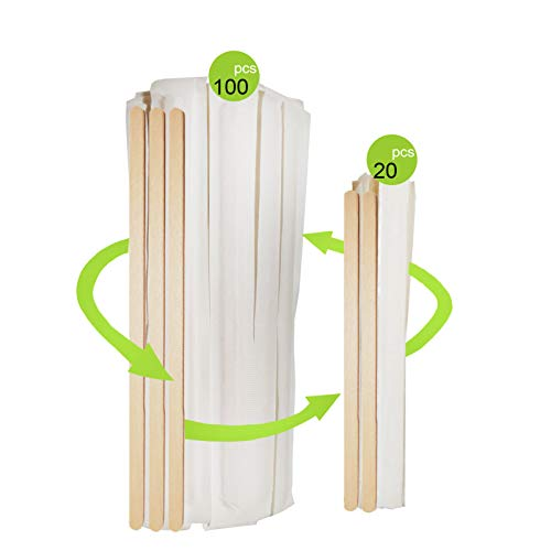 Wood Coffee Stirrers Sticks Individually Wrapped Bar Accessories Mixed Size 120 Pack for Coffee,Popsicle Sticks,Cocktail…