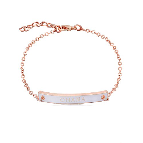GUANDU Personalized Style Customized Engrave Your Name Link Bracelet for Women Teen Girls (Rose ()