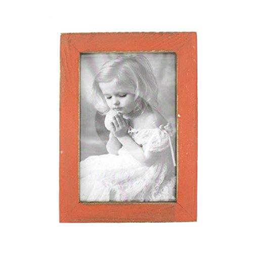 4x6 Inches Simple Rectangular Desktop Family Picture Photo Frame (Orange) (Photo Orange Box)