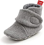 Baby Girls Boots, TMEOG Baby Fleece Cozy Boots Lovely Slippers Infant Toddler First Walkers Winter Warm Shoes