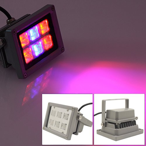 LVJING® New LED Flood Grow Light 12W Full Spectrum for Indoor Flowering Plants and Hydroponics System