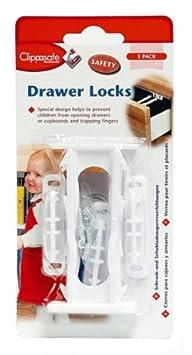 3-Pack Clippasafe Drawer Lock