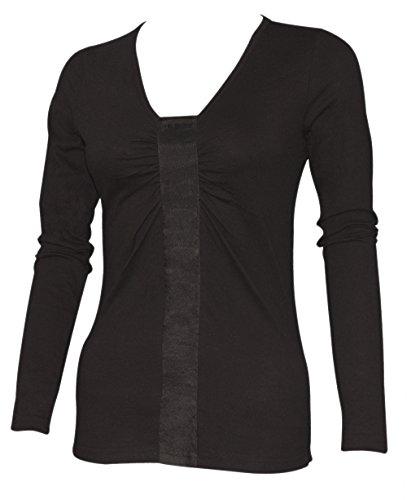 Ninety-One - Camiseta de manga larga - para mujer negro