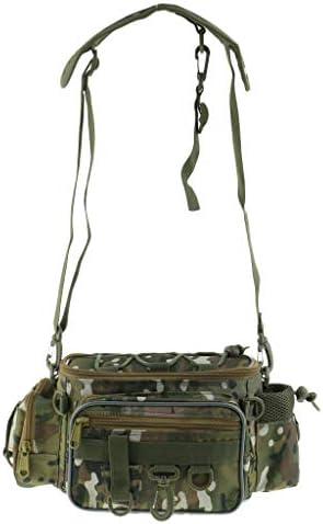 多機能 ショルダーバッグ ウエストバッグ 釣り袋 カモフラージュ タックルバッグ 大容量 高強度
