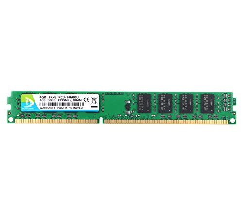 DDR3 1333, PC3-10600, DUOMEIQI 4GB DDR3 2Rx8 PC3 10600U RAM DDR3 UDIMM 240-Pin 1.5V CL9 4GB RAM Memory Module Upgrade Chips for Desktop 240 Pin Micron Chip