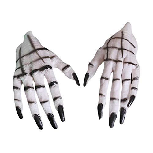 Halloween Scary Creepy Props, Elevin(TM) Hot Halloween Fancy Dress Fake Scar Wound Skin Wax Body Face Painting Make up SK (B) (C)