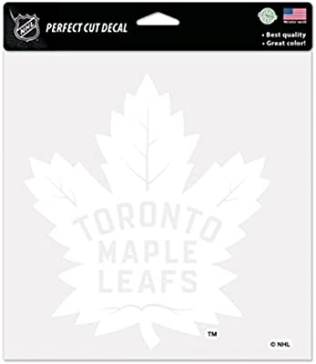 Amazon Com Nhl Toronto Maple Leafs 8x8 Perfect Cut White Decal Arts Crafts Sewing
