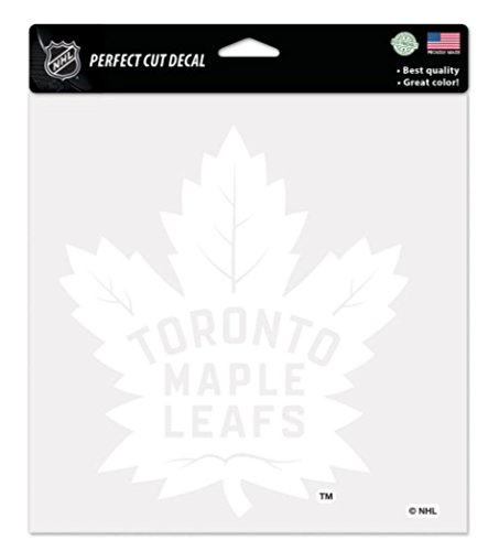 (Wincraft NHL Toronto Maple Leafs 8x8 Perfect Cut White Decal)