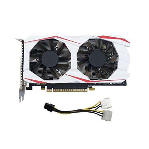 YIYEZI GTX 750Ti 2GB GDDR5 192bit VGA DVI HDMI Graphics Card With Fan For NVIDIA GeForce (White) by YIYEZI (Image #1)'