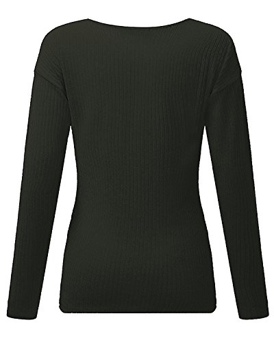 StyleDome Damen Bluse Gr. 36-38, grün